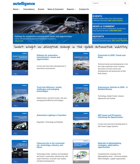 Autelligence Website Screenshot