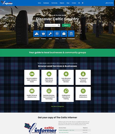 The Celtic Informer Website Screenshot