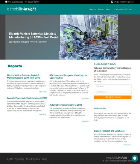 E-Mobility Insight Website Screenshot