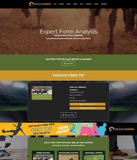 Every Post a Winner Website Screenshot