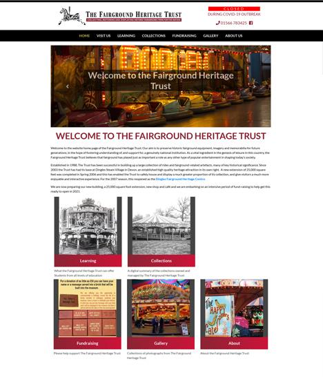 Fairground Heritage Trust Website Screenshot