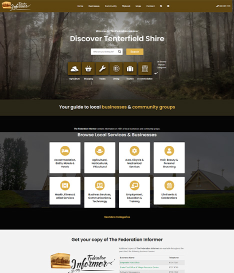 The Federation Informer Website Screenshot
