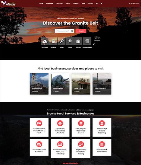 Granite Belt Informer Website Screenshot