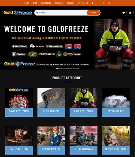 Goldfreeze Website Screenshot
