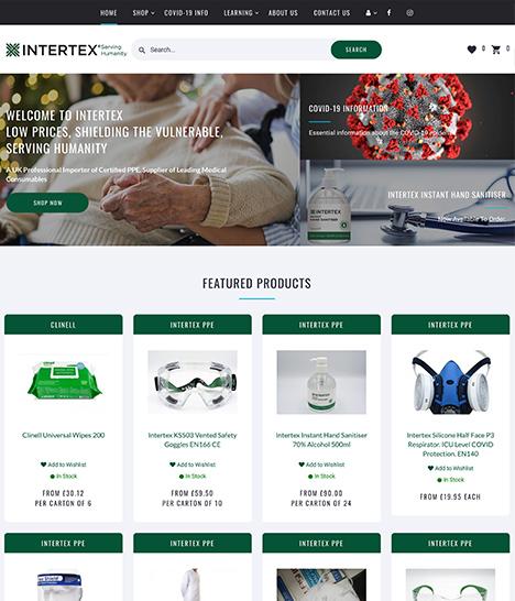 Intertex PPE Website Screenshot