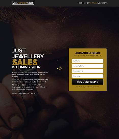 Just Jewellery Sales Website Screenshot