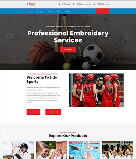 Lida Sports Website Screenshot
