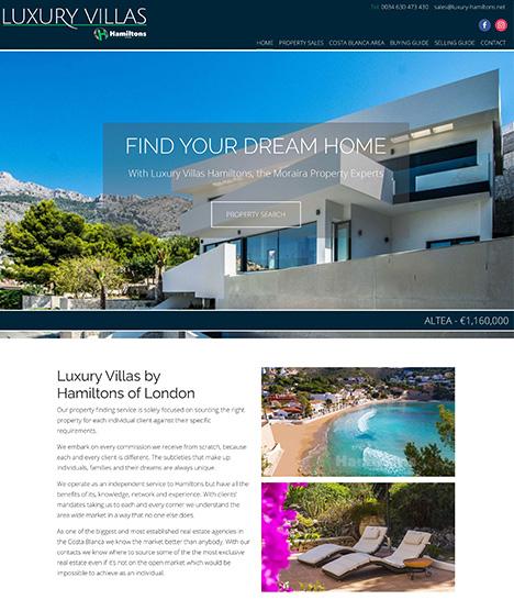 Luxury Hamiltons Website Screenshot