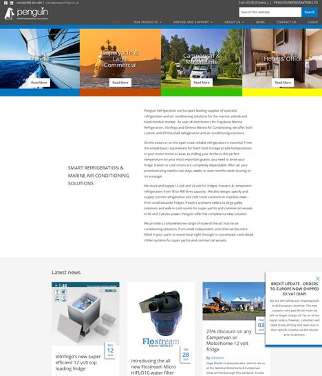 Penguin Refrigeration Website Screenshot