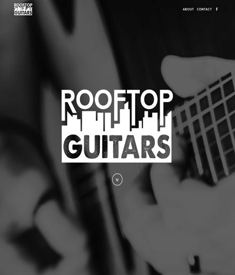 Rooftop Guitars Website Screenshot