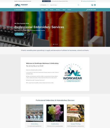 Stanthorpe Workwear & Embroidery Website Screenshot