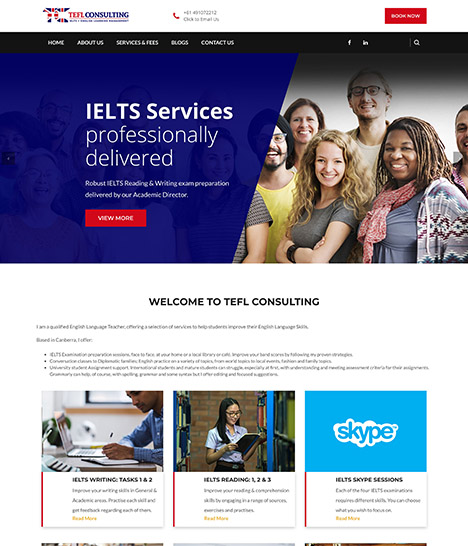 TEFL Consulting Website Screenshot