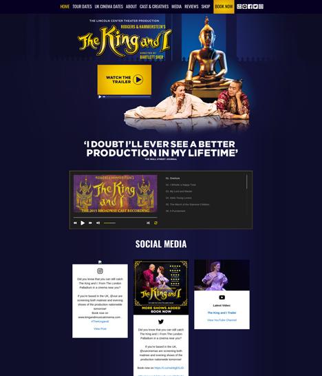 The King and I Website Screenshot