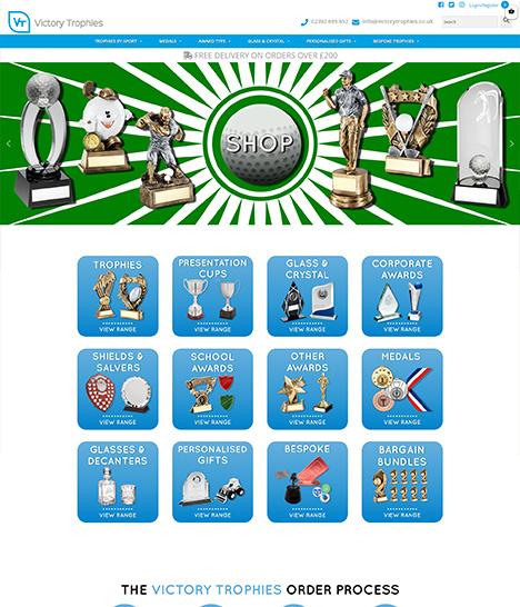Victory Trophies Website Screenshot