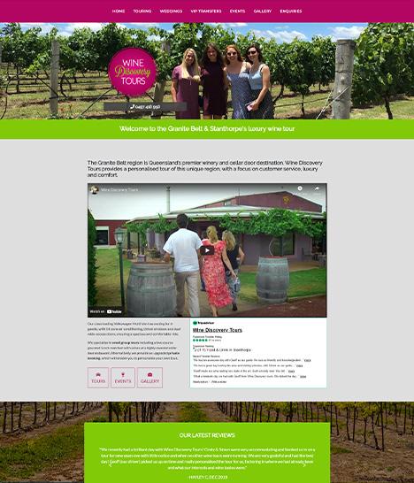 Wine Discovery Tours Website Screenshot