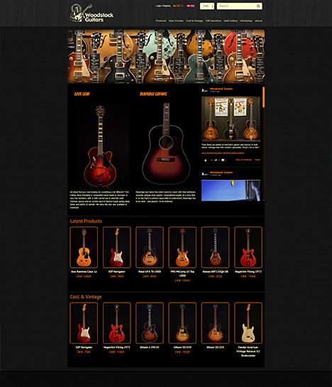 Woodstock Guitars Website Screenshot